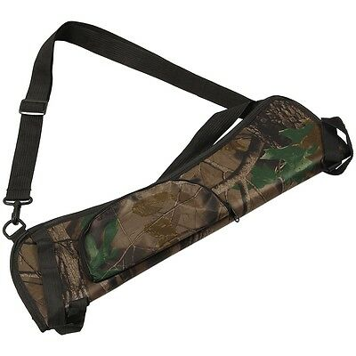 Portable Archery Quiver Arrow Holder Bow Back Side Waist Hanging Buckle Zip P FK