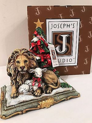 Lion & Lamb With Tree Figurine Joseph's Studio Roman #31232 New In Box