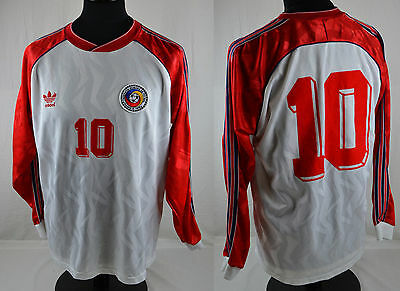 RARE Vintage Adidas ROMANIA Long Sleeve Football Shirt L Retro Away Jersey Euro