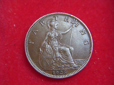 1928 George V Farthing In A Very High Grade  [O26]