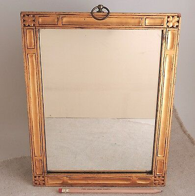 Antique Foster Brothers Boston Gilt Frame Mirror Arts and Crafts Carved Gold Vtg