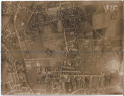 RFC Royal Flying Corps. Reconnaissance Photo. France. 18th September 1918.