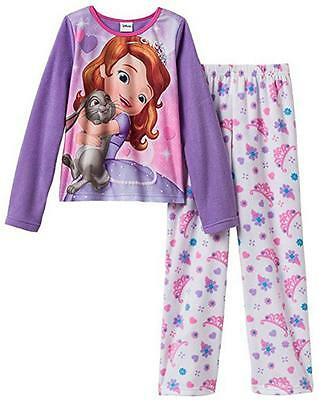 Sofia The First Girls 2pc Printed Micro Fleece Pajama Pant Set 4 6 8 10 $34.00