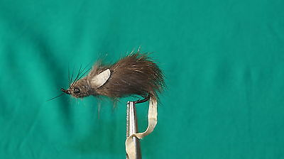 3QTY RABBIT FUR MOUSE  Fly Fishing Flies size 1/0