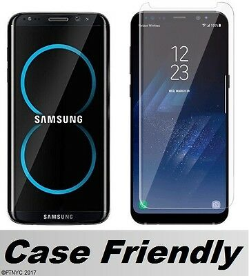 Case Friendly 3D Curved Tempered Glass For Samsung Galaxy S8 / S8 Plus