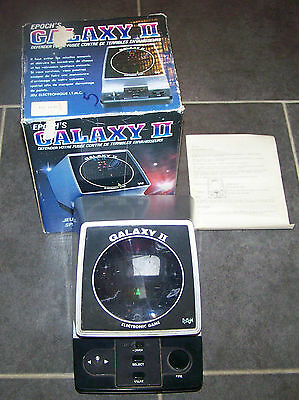 ANCIEN JEU ELECTRONIQUE RETRO EPOCH'S GALAXY II, TABLE TOP EN BOITE ANNEES 80's