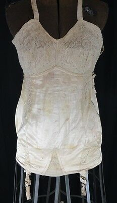 girdle corset full length boned garters antique antique original 1900