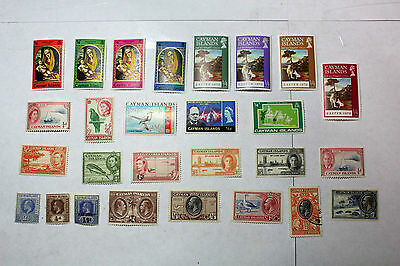 Lot of 27 Cayman Islands  Postal  Postage Stamps  Mixed Collection  CAYM001