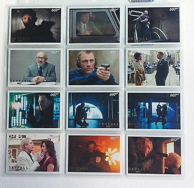 James Bond Autographs and Relics - Lot Of 12 Skyfall Gold Parallel Cards