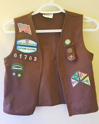 Girl Scouts Vest Size Small With Patches an Pins