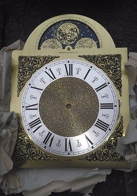 Hermle Emperor Clock Co Grandfather Clock Dial with Moon Phase & Night Shut off