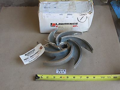"+New In Box Lawrence Pump 060-11384-C000 Stainless Pump Impeller  9-1/2"" O.d."