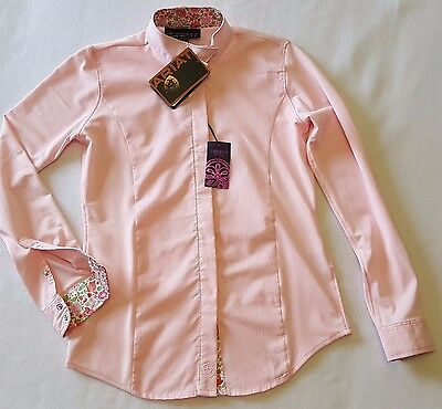 NWT Ariat Pink Breathable Show Shirt Ratcatcher Youth L (12) Cool English Riding