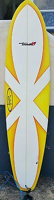 7.2  Surfboard with NEW board Bag .8ft Leash.Fins in mint Condition