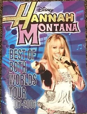 Hannah Montana Concert  Program  2007-2008 Miley Cyrus Best of Both Worlds Tour