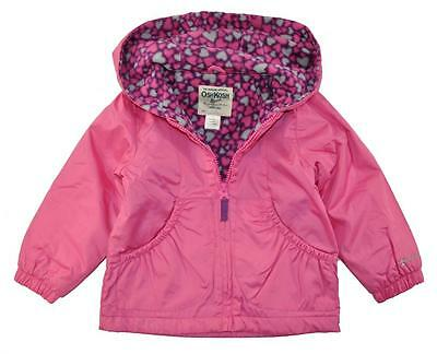 OshKosh B'gosh Toddler Girls Pink Fleece Lined Jacket Size 2T 3T 4T $34