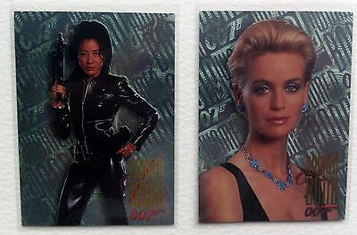 "Lot of 2 Women of Bond Chase Cards James Bond 007 ""Tommorow Never Dies"" Inkworks"