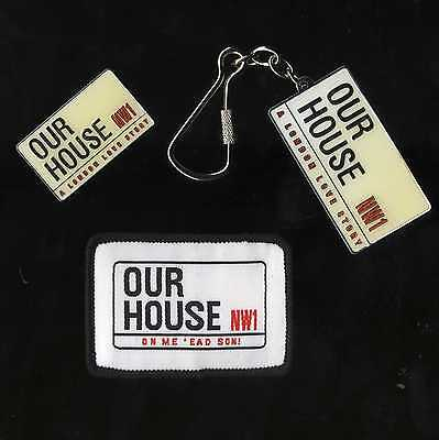 Our House Madness Musical - Enamel Keyring & Badge + Woven Patch - Suggs 2 Tone