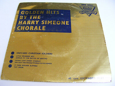HARRY SIMEONE CHORALE Golden Hits   Ember UK 1961 P/S EP
