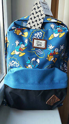 New Rare Sold Out Vans Disney Donald Duck Backpack