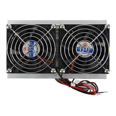 Thermoelectric Peltier Refrigeration Cooling System Kit Cooler Double Fan DIY FK