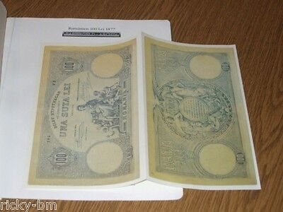 """ROMANIA 100 LEI 1877 BILET HYPOTHECAR, OFFICIAL GERMAN BROCHURE FROM THE 1970""""s"""