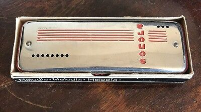 Rare Vintage Senora Melodia Double Sided Harmonica  Made In Poland   7 ""