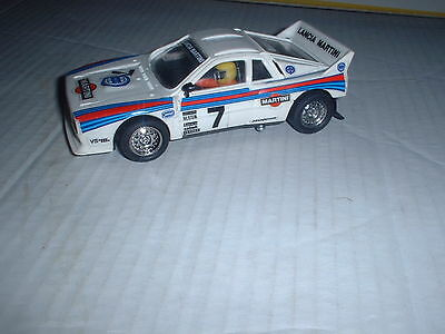 EXIN SPANISH Scalextric REF No 4073 LANCIA 037 MARTINI LIVERY ROLLING SHELL VG/C