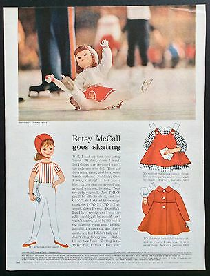Vintage Betsy McCall Mag. PaperDoll, Betsy McCall Goes Skating, Feb. 1962