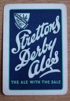 Old Wide Brewery Single Playing Card. Strettons Derby Ales.