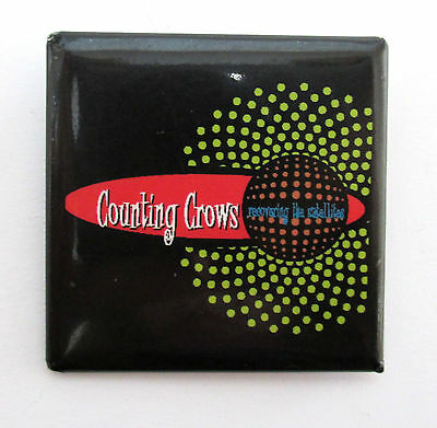 "Counting Crows ""interplanetary Square"" Black Pin Recovering The Satellites New"