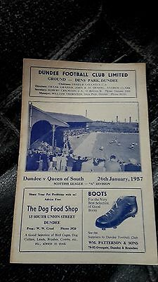 Dundee V Queen Of The South 1956-57 'a' Division
