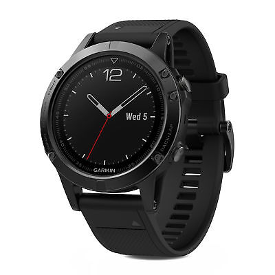 Garmin fenix 5 47mm Multisport GPS Fitness Watch Sapphire Black with Black Band