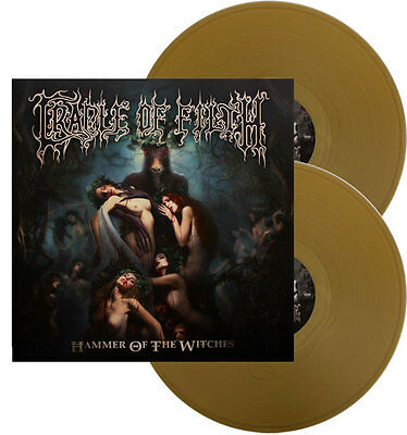 Cradle Of Filth - HAMMER OF THE WITCHES 2x gold vinyl LP album /200 MINT SEALED
