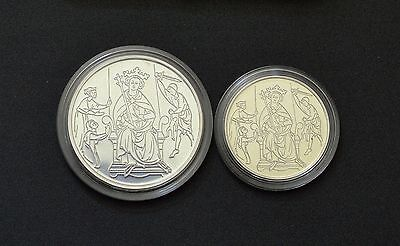 "Israel 1995 ""Biblical Art""- Solomon's Judgement- 2 silver coins in box with COA"