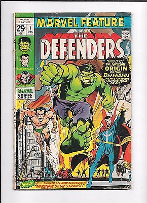 Marvel Feature #1 ==> Gd/vg 1St Appearance Of The Defenders Marvel Comics 1971
