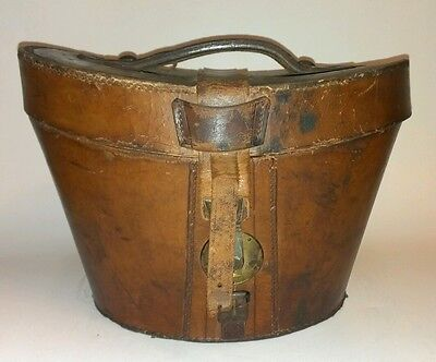 Top Hat Brown Leather Bucket Box