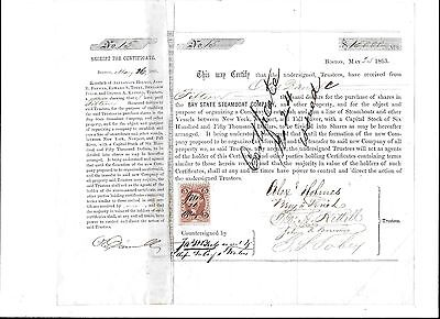 BAYSTATE STEAMBOAT COMPANY,1863,$15000 Sale of Company,Revenue Stamp,Alex Holmes