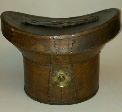 Top Hat Leather Bucket-Style Box