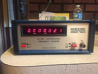 E81 HICKOK Model 380X 80 MHz Autoranging Frequency Counter Meter for HAM Radio