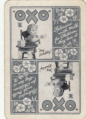 #Vintage Swap/ Playing Card-1 SINGLE WIDE - ADVERTISING-  OXO