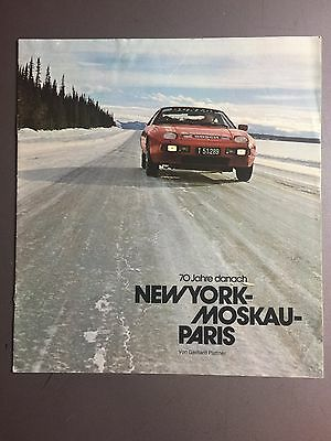1980 Porsche 928 NY - Paris - Moscow Showroom Advertising Sales Brochure RARE!!