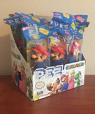 PEZ 2017 Nintendo - 12 x Mario MIB w/Counter Box - Great Party Favors!
