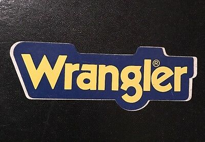 WRANGLER WORKWEAR JEANS 1980's Advertising Sticker Very Rare