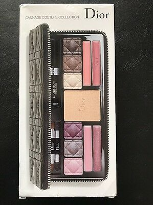 Dior Cannage Couture Collection All Over Makeup Palette Travel Case NEW