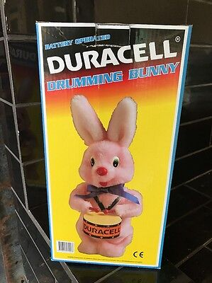 Duracell Drumming Bunny Battery Operated and Original Box brand new vintage