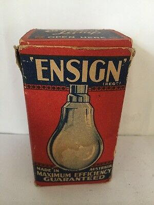 Ensign Vintage Light Bulb Made In Australia