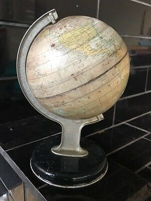 Vintage Chad Valley Tin World Globe No.10152 Made In England