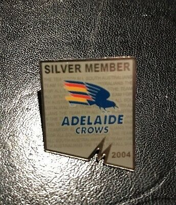 ADELAIDE CROWS SILVER MEMBER 2004 AFL Pin Badge Collectable
