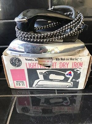 General Electric FD11 Vintage Iron 1960's In Original Box
